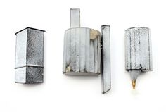 Kat Cole Structure Brooches 2013- steel, enamel, brass, found material