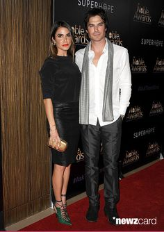 Actress Nikki Reed and actor Ian Somerhalder attend the 3rd annual Noble Awards at The Beverly Hilton Hotel on February 27, 2015 in Beverly Hills, California. (Photo by Jason LaVeris/FilmMagic)