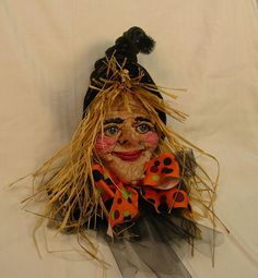 Handmade OOAK Medium Size Halloween Hanging Wall by cre8orstouch, $85.00