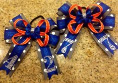 Boutique OTT Hair Bow MTM Sports Teams or School Colors by TwinkeesBowtique,