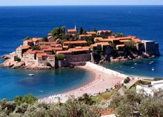 """See 7 photos and 1 tip from 40 visitors to Villa Mitrović ***. Right in front of Sveti Stefan"""" Next Holiday, City Beach, Albania, Montenegro, Hotels And Resorts, Where To Go, Croatia, Places Ive Been, Coastal"""
