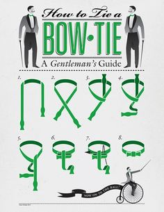 A neat infographic on how to tie a bow-tie properly
