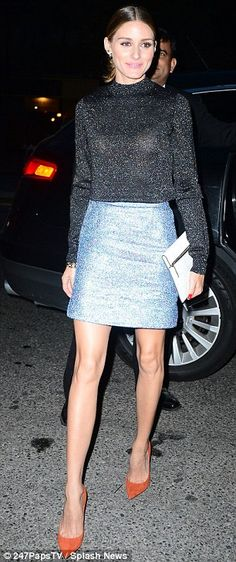Simple style: Olivia Palermo. All over shine can be tricky, but true to form Olivia pulls it off flawlessly :)