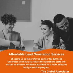 Choosing us as the preferred partner for B2B lead generation will help you reduce the operations costs and makes an efficient workforce available for a more effective lead generation program. #affordableleadgenerationservices #leadgeneration #b2bleadgeneration #b2bsales