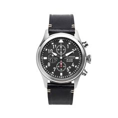 Jack Mason Aviator Chronograph Watch Black Dial/Strap
