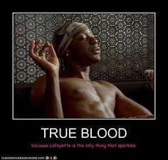 because lafayette is the only thing that sparkles -- true blood