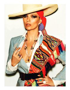 Kate Moss Celebrates Peruvian Style with Mario Testino for Vogue Paris April 2013 | Fashion Gone Rogue: The Latest in Editorials and Campaigns