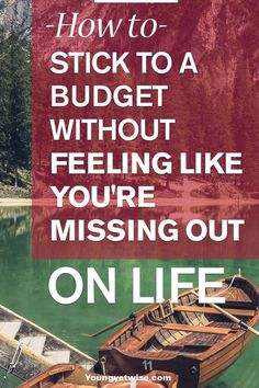 So maybe you've just recently sat down to create a budget or maybe you're a few months into sticking to your budget  and you feel like something isn't right. Life was much more fun when you didn't give your money a specific destination. Before you do anything crazy with your money be sure to read this helpful post! http://youngyetwise.com/stick-budget-without-feeling-like-youre-missing/