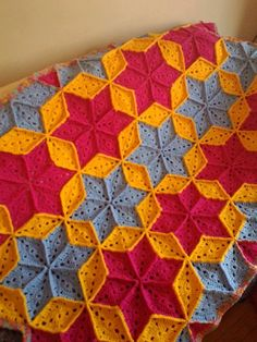 Bright+Crochet+Afghan | Bright Star Crochet Afghan