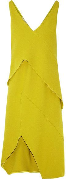 Narciso Rodriguez - Asymmetric Stretch-crepe Dress - Chartreuse