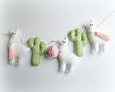 MADE TO ORDER - Cactus and Llama garland bunting