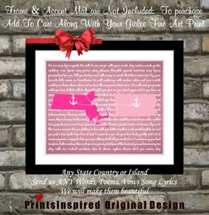 Custom Song Lyrics Art: Special Song Best Friend Girlfriend Valentines Day Love gift present Long Distance Friendship Relationship Print For Deborah Fun Gifts, Love Gifts, Gifts For Boys, Best Friend Gifts, Gifts For Friends, Best Friends, Valentine Day Love, Valentines, Friendship Crafts