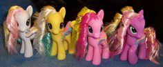 G1 to G4 Rainbow Curl Custom Ponies - Group Shot by Alipes.deviantart.com on @DeviantArt