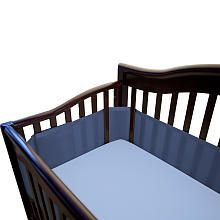 Breathable Baby Mesh Crib Liner - True Navy