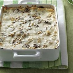 Artichoke Mushroom Lasagna Recipe from Taste of Home -- shared by Bonnie Jost of Manitowoc, Wisconsin