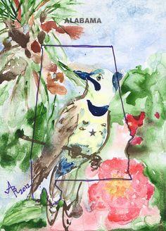alabama-state-tree-bird-flower-anna-ruzsan.jpg (646×900)
