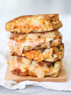 Buffalo Chicken Grilled Cheese Sandwich foodiecrush.com #recipe #sandwich