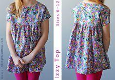 free pattern - Izzy Top Sizes 6 - 12