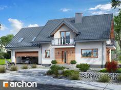 Dom w czerwonokrzewach Sims House Design, Dream Home Design, Home Fashion, Home Projects, House Plans, Farmhouse, Cottage, Exterior, Mansions