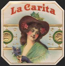Etikett Zigarrenkiste La Carita / cigar box label / Zigarren Etikett # 845