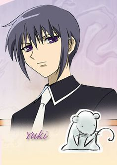 """The character Yuki Sohma, from the series """"Fruits Basket."""""""