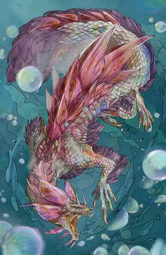 Another Monster Hunter commission, this time bubbly boi Mizutsune Magic Creatures, Mythical Creatures Art, Fantasy Creatures, Monster Hunter Series, Monster Hunter Art, Monster Art, Creature Concept Art, Creature Design, Elefante Tribal