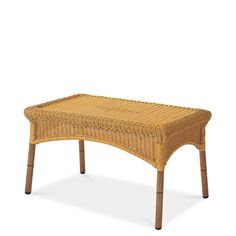 ROYAL 5 DELUXE Stacking Coffee Table  AT2505D23RAT Width: 35 1/4″ Depth: 20 1/2″ Seat Height: 19 1/4″  Aluminum Tube UV Resistant Wicker Wicker: 1201 Round Weaving Style No.02 Finish: Dark Bamboo