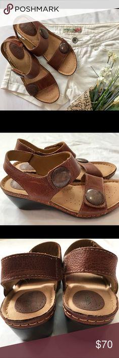 Selling this 🆕SOFTSPOTS Leather Wedge Sandals on Poshmark! My username is: sweetride. #shopmycloset #poshmark #fashion #shopping #style #forsale #Softspots #Shoes