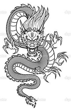 Baixar - Dragão chinês — Ilustração de Stock #31188827