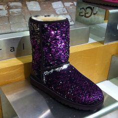 passion purple sparkle uggs