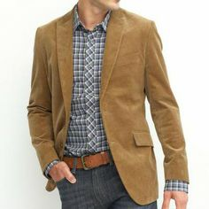 A casual blazer-Michael by Michael Kors Jacket, Solid Camel Hair ...