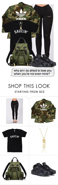 10/21/16 by themaiaeffect on Polyvore featuring adidas, NIKE and Burberry