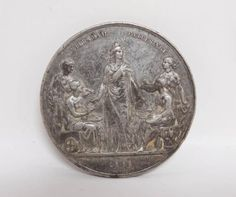 Antique-Estate-Found-1888-Nordic-Exhibition-Copenhagen-Denmark-Medal