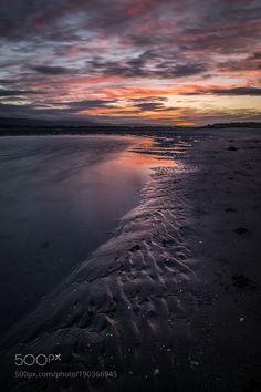 Sunset on the beach - Dublin Ireland - Seascape photography by pixael