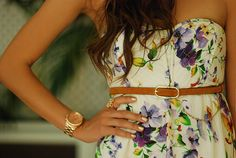 Strapless floral