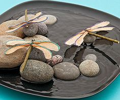 Dragon-twigs: The propeller-shaped seeds from maple trees form the wings of these delicate dragonflies.