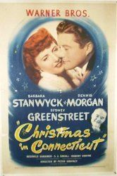1945, Christmas In Connecticut, Barbara Stanwyck, Denis Morgan  Love, love, love this movie. Holiday Tradition:)