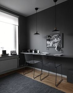 Is To Me | Interior inspiration | Dark workspace