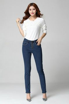 PWDM4066 Plus Size Button Up Jean - DEBE Beautic