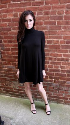 Black Turtleneck Dress - BubbaJane's Boutique