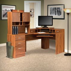 Found it at Wayfair - Office Adaptations Computer Desk with Hutch