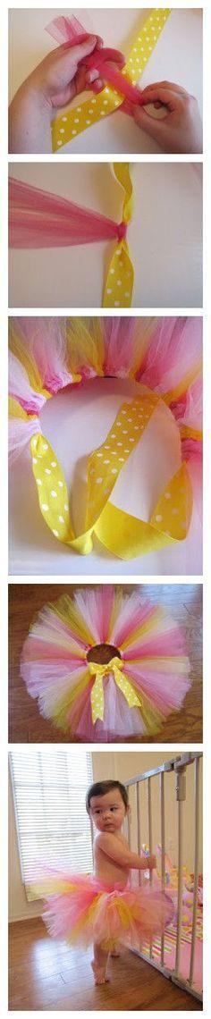 TuTu rosa y amarillo