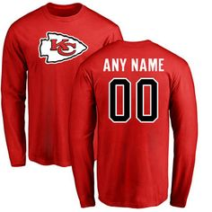 This long sleeve personalized t-shirt is the perfect gift for any Kansas  City Chiefs 6bb8153bc