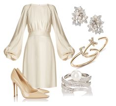 """Без названия #2708"" by claire-hamilton-bristol ❤ liked on Polyvore featuring Chloé, Nina, Dana Rebecca Designs, Gianvito Rossi and Fallon"