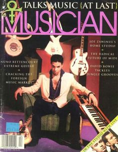 Prince cover of Musician magazine. O(+> talks music  ( at last )