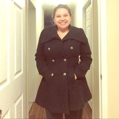 Worthington peacoat One day sale Like new only wore a couple of times!! Super warm and cute bought last season. A little tight in my bust I'm a 36C or 34D worthington Jackets & Coats