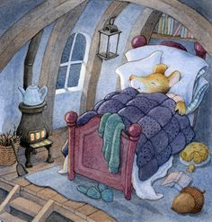 On the hill Art And Illustration, Cottage Art, Whimsical Art, Cute Drawings, Cute Art, All Art, Illustrators, Cute Pictures, Fantasy Art