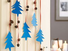 Make your own mobile – creative craft ideas for a cute baby mobile - DIY Decorations Christmas Tree Star, Christmas Makes, Christmas Crafts, Christmas Decorations, Xmas, Holiday Decor, Kids Christmas, Kids Crafts, Creative Crafts