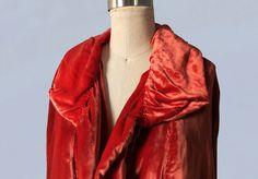 cappotto anni 1920 / lussuosa seta velluto Cape cappotto /