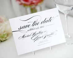Custom Save the Date Card or Wedding by shineinvitations on Etsy, $100.00